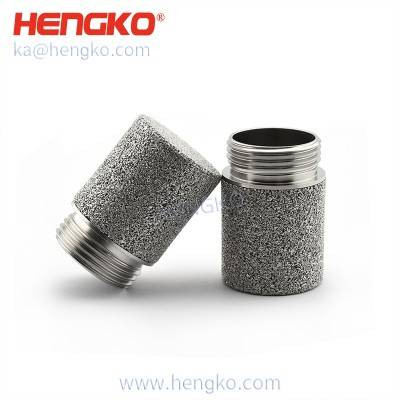 Waterproof  sintered stainless steel temperature and humidity  SHT10 SHT20  HK35G3/4U soil sensor protection housing for flower nursery