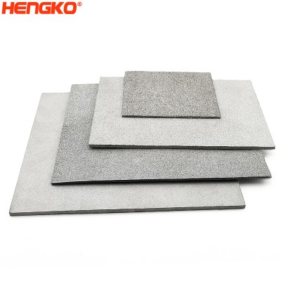 SUS304 316 316L SS porous metal filter sheet gas diffusion layers 60mm x60mm x 2.5mm thickness 100micron for MEAs