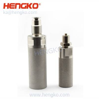 Sintered 0.5 2 Micron Stainless Steel 304 316 microporous air sparger bubble diffuser stone