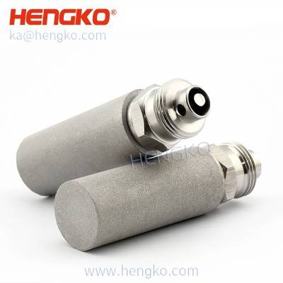 SFT01 sintered 316l stainless steel metal fine bubble air stone spargers for gas aeration or hydroponic farming