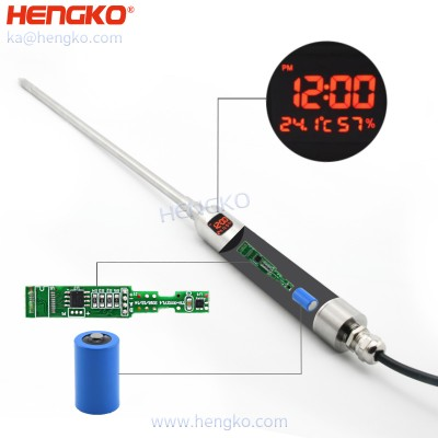 HENGKO hand-held temperature and humidity transmitter For duct mounting and tight spaces demanding humidity measurement