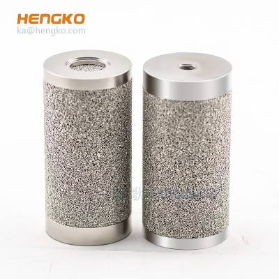 Customized high temperature resistance porous sintered stainless steel 316L cylinder filter used for micron-sized filtration application