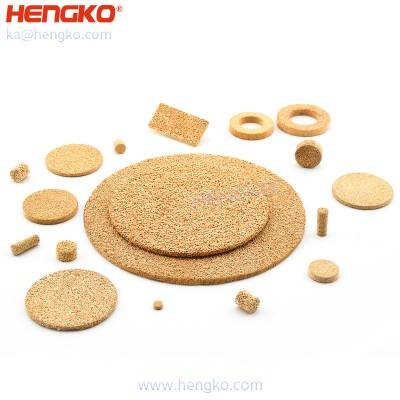 Metal powder sintered porous porosity bronze 316 stainless steel micro filters discs
