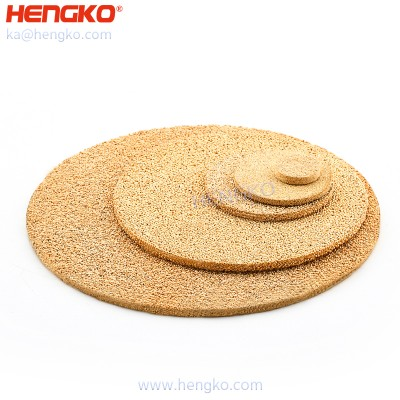 3 5 18 30 60 90 Micron porous sintered bronze air filter disc for industrial filtration system