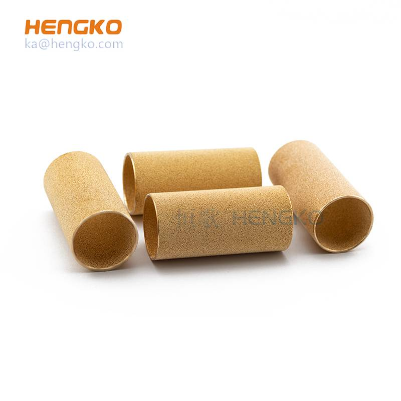 3-90 micron metal bronze powder sintered filter cylinder tube for filtration system Featured Image
