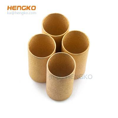 3-90 micron metal bronze powder sintered filter cylinder tube for filtration system
