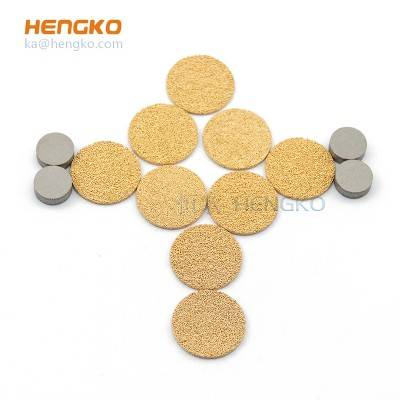 5 10 20 90 120 microns sintered porous metal bronze stainless steel 316L multi-purpose filter disc