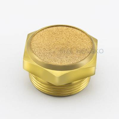 "China suppliers long term stability sintered brass pneumatic air exhaust muffler filter with 1/8""  1/4"" 3/8"" 1/2"" 3/4"" 1""  11/4"" 11/2"" 2"" G thread"