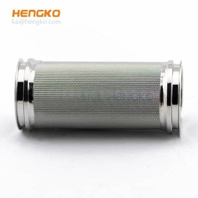 sintered stainless steel wire mesh air filter cartridge for dust removal or pure water