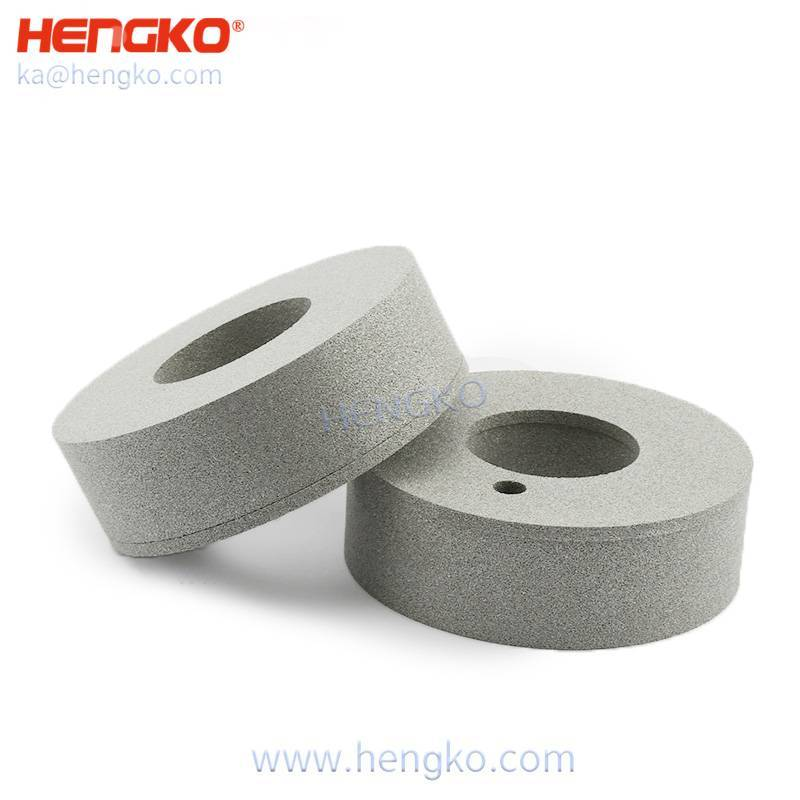 HENGKO high temperature resistance sintered porous metal stainless steel 316 planetary filter element for Hydrogenous Gas Generator