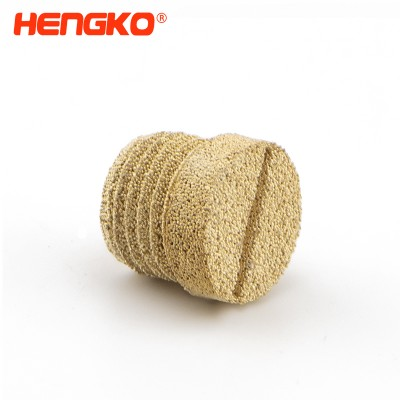 sintered porous metal powder bronze exhaust filter silencers fitting noise filter reducer connector for car/air