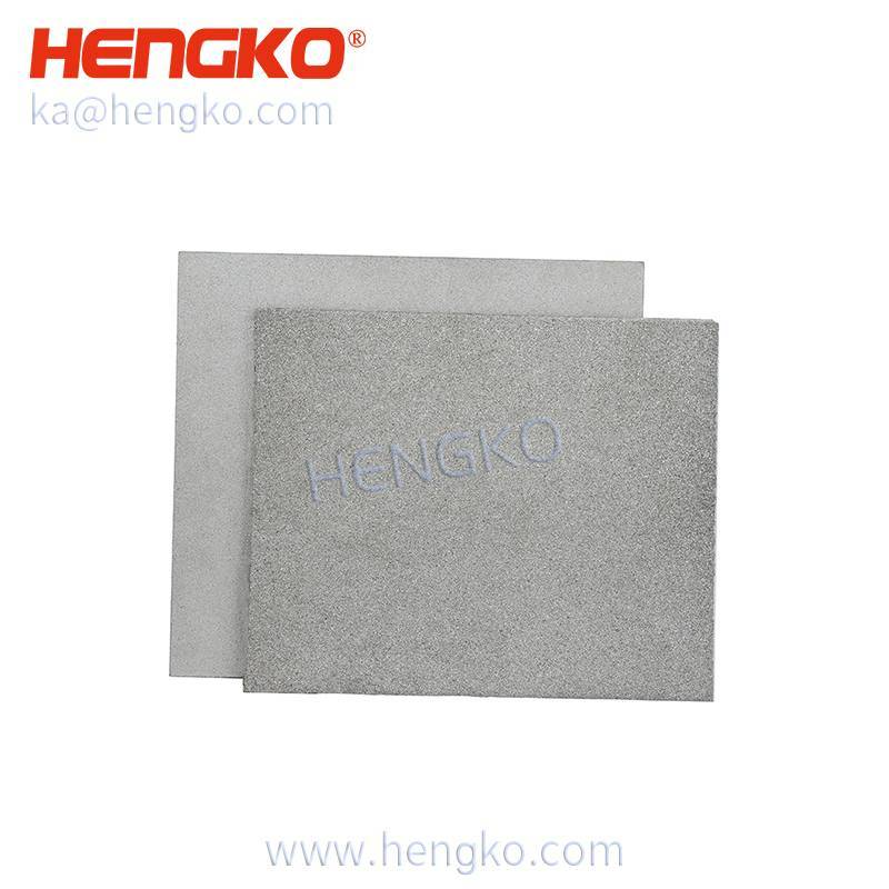 OEM high temperature resistance porous metal stainless steel filter sheet for Gas generation in spacecraft Featured Image