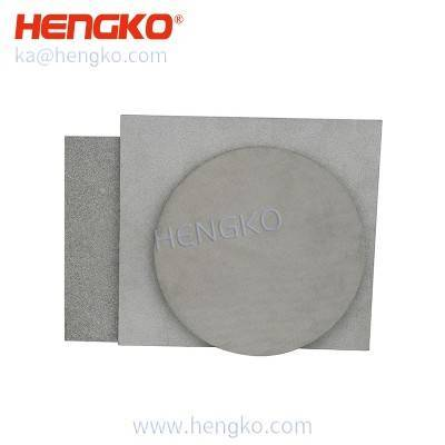 OEM high temperature resistance porous metal stainless steel filter sheet for Gas generation in spacecraft