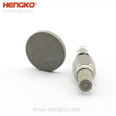Medical stainless steel Ventilator oxygen gas choke filter bacterial element used in mechanical ICU ventilator breathing circuits