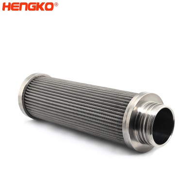 High-purity porous metal stainless steel sintered and pleated steam filter cartridges