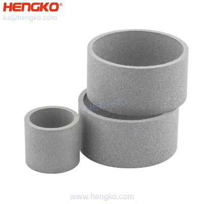 Sintered metal powder stainless steel 316L industrial dust collector air filter cartridge for micron-sized filtration application