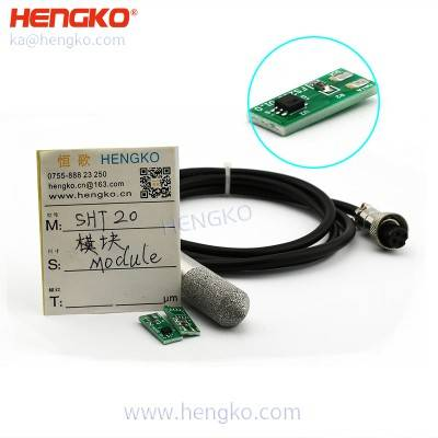 HENGKO high prisicion i2c digital cold storage facilities temperature and humidity sensor SHT series chip pcb