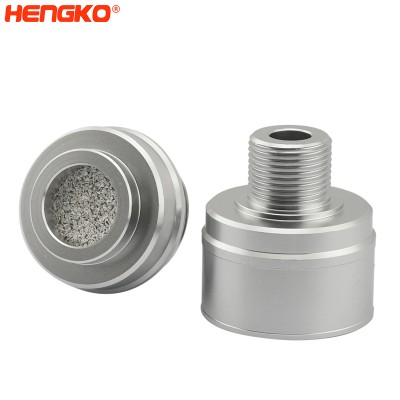 Flame arrester sintered stainless steel explosion-proof gas leakage sensor probe enclosure for maximum poison protection