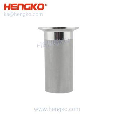 1.0-210mm diameter sintered porous metal SS316 stainless steel cartridge filter mesh perform in liquid and gas applications