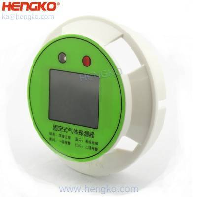 HENGKO Fixed gas sensor detector combustible / toxic gas transmitter fitting for digital color screen display – Display Gas Concentration