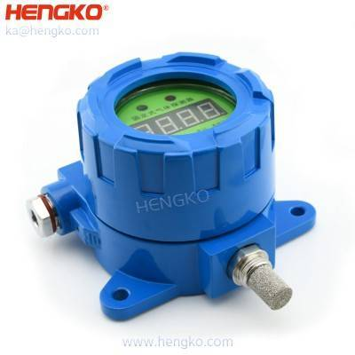 HENGKO IP65 66 waterproof explosion-proof stainless steel sintered metal porous filter dew point humidity sensor transmitter for moisture analysis