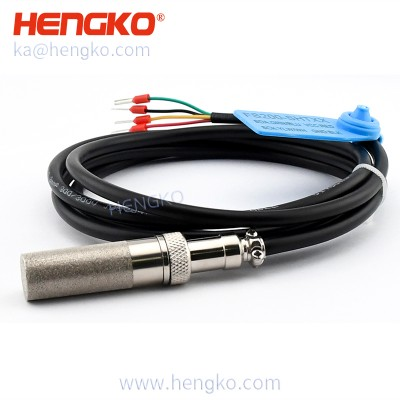 Large air permeability 4-20ma agriculture temperature and humidity sensor (SHT series) with IP65 waterproof sintered filter probe housing
