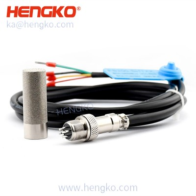 Relative humidity and temperature probe for combustion air and other humidifiers, Vapor and pressure proof construction