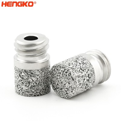 Micro stainless steel sintered metal powder porous spargers sparger attaches tip for Bioreactors