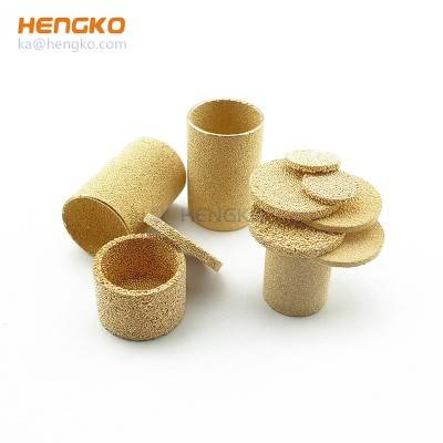 filter tubes of porous metal bronze powder sintered filter cylinder for ptocess air and gas