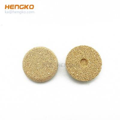 Personal customization 15 45 90 micron powder sintered brass bronze porous metal oil filter disc