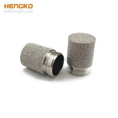 high temperature pressure microns sintered porous metal bronze Inconel stainless steel filter cap filter element