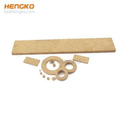 Uniform strength sintered porous metal micron filter fluidizers bronze brass copper filter plate