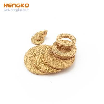 Brass Sintered Porous Disc Filter Sintered Bronze Filter Disc