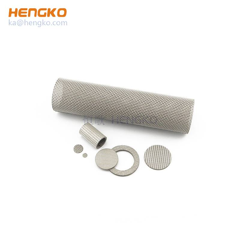 Preferential supply durable long service life sintered 5 10 40 100 micron porous 316L stainless steel filter mesh for dust filter Featured Image