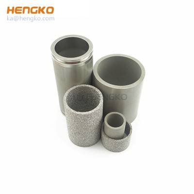sintered filter stainless steel filter cylinder for water treatment aeration/dust extraction
