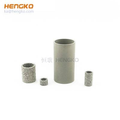 High porosity sinter porous metal stainless steel filter seamless tubes for Various flow control