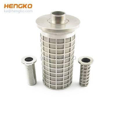 Multilayer Mesh Cleanable pharmaceutical grade sintered stainless steel cartridge filter used for medical food chemistry pharmacy