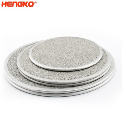 In-Line micron stainless steel porous metal sintered filter disc gasket strainers
