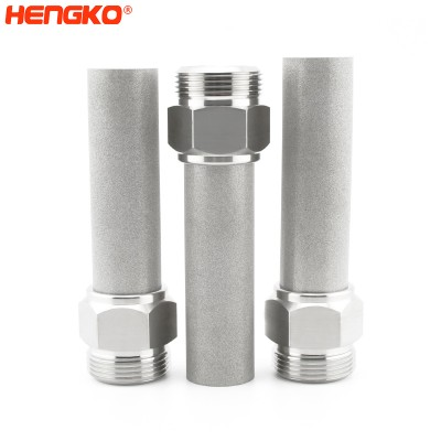 Sintered metal 316 stainless steel filter medical micro filter tube for liquid and gas contact applications