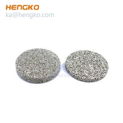 Customized size heat-resistant micron replacement sintered stainless steel porous metal filter disc used for noise reduction