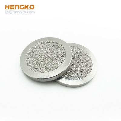 Corrosion resistance factory direct sale sintered 0.2-120 micron 316L stainless steel metal powder filter disc used for liquid oil filtration system