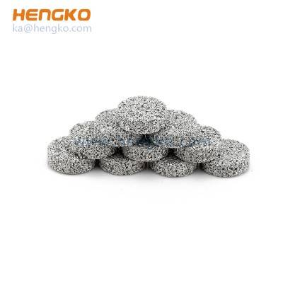 Custom microporous Easy Clean sintered porous metal brass bronze stainless steel filter disc used for particulates removal