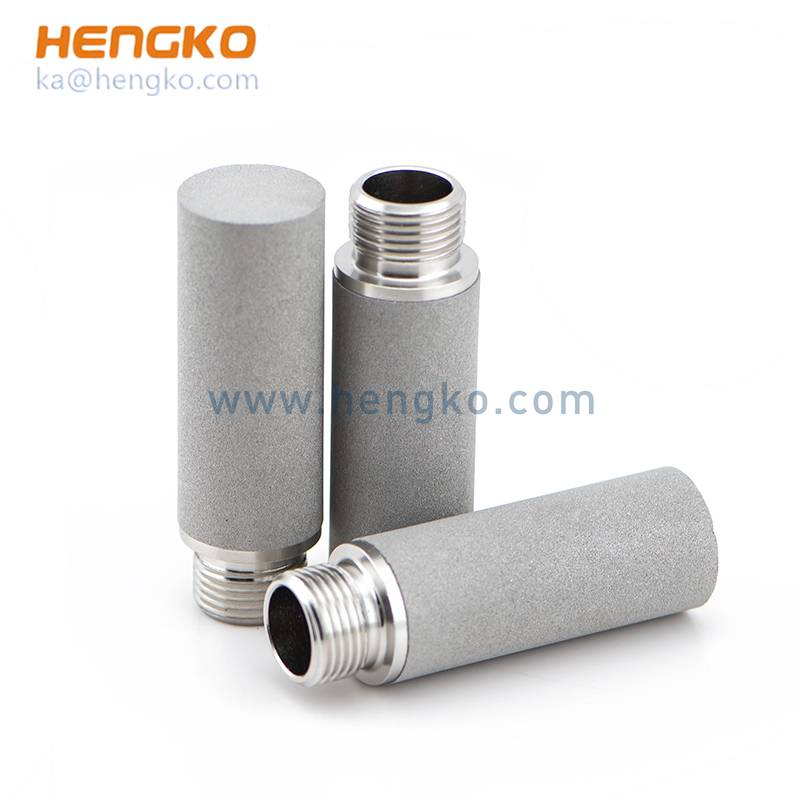 sintered metal powder stainless steel filter air compressor air filters