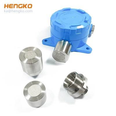Fireproof and anti-explosion porous SS sensor module protection housing for gas detector