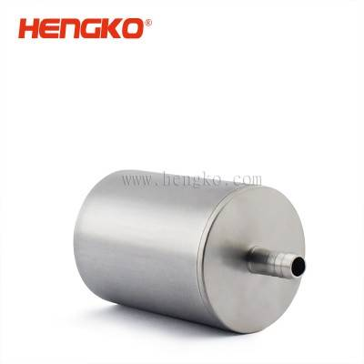 Sintered sintered SS stainless steel inline oxygen air diffuser stone