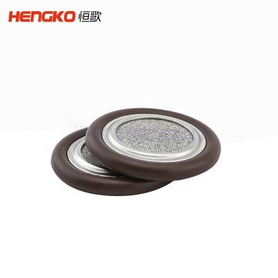 micron sintered stainless steel vacuum kf certering ring filter with porous filter