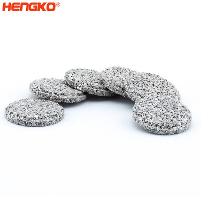 Custom-Make  various microns porosity sintered  powder stainless steel metal 316L  filter disc used  for industries filtration