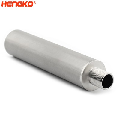High-purity sintered porous 316L stainless steel steam filters effective retention of particles