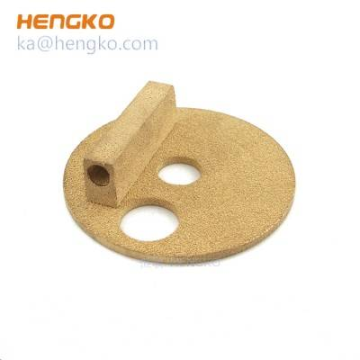 Sintered compaction and sintering of metal powders bronze micron filter disc