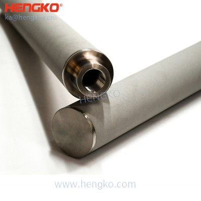 Cylindrical sintered metal powder stainless steel filter elements for catalyst recovery and retention